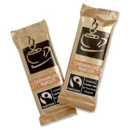 Fairtrade Speculoos Coffee Biscuits Caramelised Individually-wrapped Portions Ref NST544 [Pack 300]
