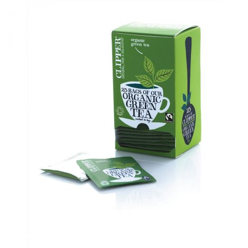 Clipper Organic Green Tea Fairtrade Light and Refreshing Teabags Ref A06744 [Pack 25]