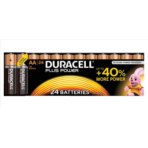 Duracell Plus Power Battery Alkaline 1.5V AA Ref 81275383 [Pack 24]
