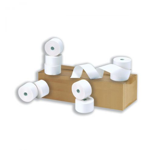 Cash Register Rolls 2-Ply 76x76x12.7mm Length 24m [Pack 20]