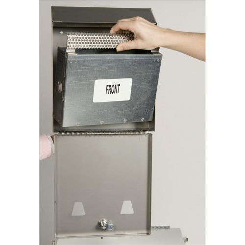 Rubbermaid Smokers Station Wall-mounted Lockable Capacity 300 Butts 254x76x317mm Steel Ref FGR1012EBK