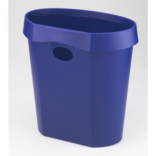 Avery DR500 Waste Bin with Rim Flat Back 18 Litres 350x250x340mm Blue Ref DR500BLUE