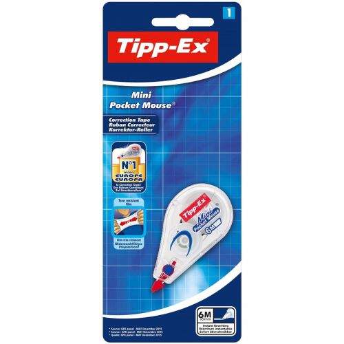 Tipp-Ex Mini Pocket Mouse Correction Tape Roller 5mmx6m Ref 932564 [Pack 10]