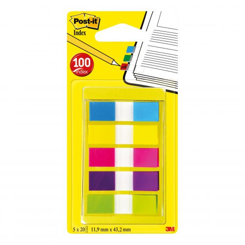 Post-it Prtble Small Index 12mm Asstd