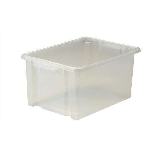 Strata Storemaster Maxi Crate External W470xD340xH240mm 32 Litres Translucent Ref HW46