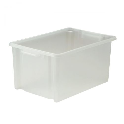 Strata Storemaster Jumbo Crate External W560xD385xH280mm 48.5 Litres Translucent Ref HW48