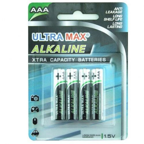 5 Star Value Alkaline Batteries AAA [Pack 4]