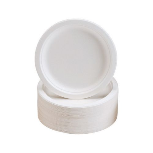 Plates Rigid Biodegradable Microwaveable Diameter 180mm [Pack 50]