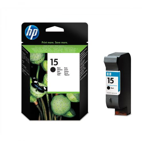 Hewlett Packard [HP] No.15 Inkjet Cartridge High Yield Page Life 500pp 25ml Black Ref C6615DE