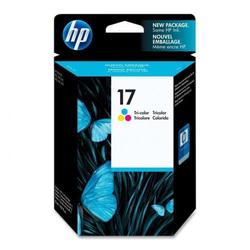 Hewlett Packard [HP] No.17 Inkjet Cartridge Page Life 480pp 15ml Tri-Colour Ref C6625A