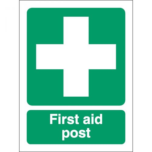Stewart Superior First-Aid Post Self Adhesive Sign Ref SP051SAV