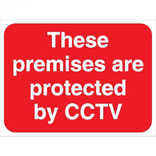 Stewart Superior These Premises are protected by CCTV Sign Outdoor Use W400xH300mm Foamboard Ref FB044PVC
