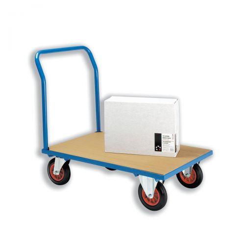 5 Star Facilities Platform Truck Heavy-duty Capacity 500kg Baseboard W1000xD700mm  Blue