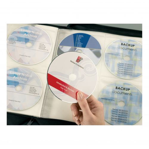 Avery CD/DVD Labels Laser 2 per Sheet Dia.117mm Full Face Opaque White Ref L7676-25 [50 Labels]