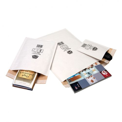 Jiffy Mailmiser Protective Envelopes Bubble-lined Size 000 P&S 90x145mm White Ref JMM-WH-000 [Pack 150]
