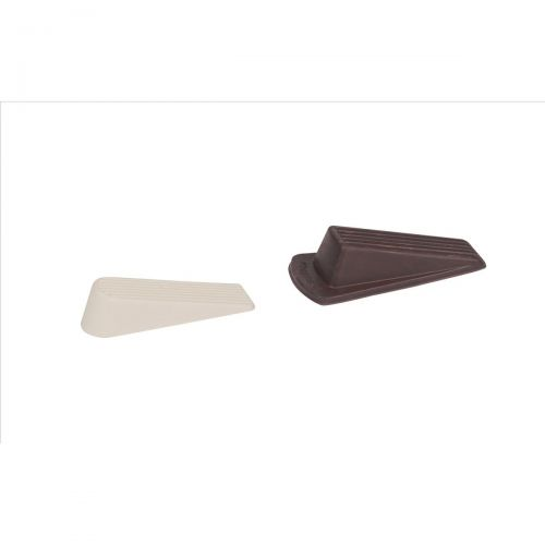 Door Wedge Rubber White [Pack 2]