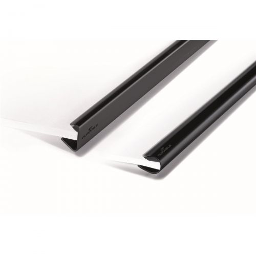 Spine Bars for 60 Sheets A4 Capacity 6mm Clear [Pack 50]