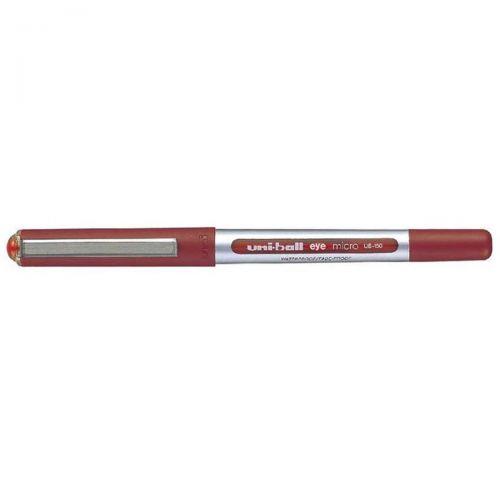 Uni-ball Eye UB150 Rollerball Pen Micro 0.5mm Tip 0.3mm Line Red Ref 162560000 [Pack 12]