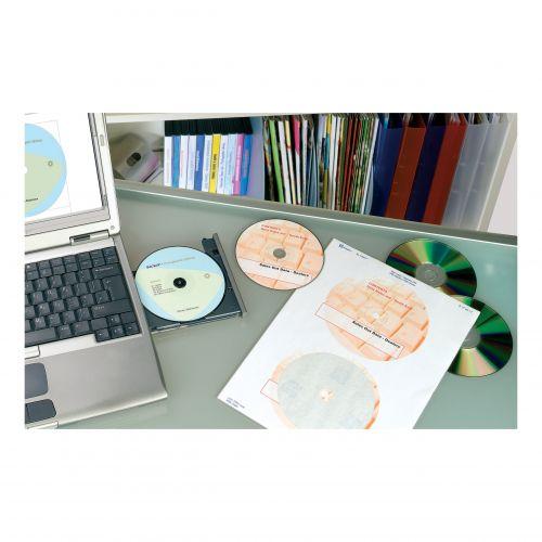 Avery CD/DVD Labels Laser 2 per Sheet Dia.117mm DVD-safe Matt White Ref L7776-25 [50 Labels]