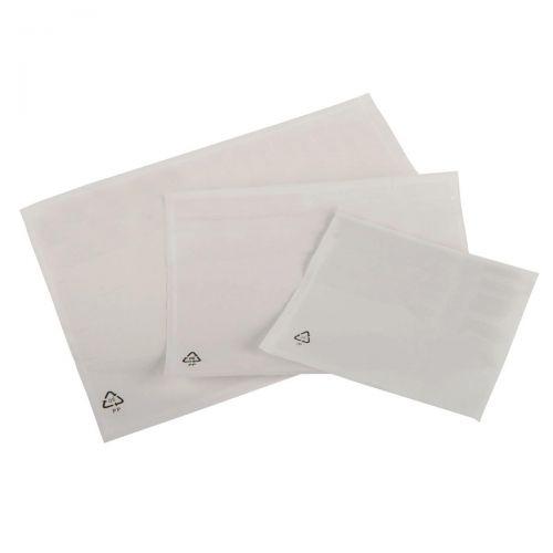 Tenzalope Packing-list Envelopes Polythene DL Plain Internal Size 225x122mm Ref TLDLP [Pack 1000]