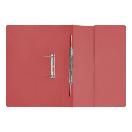 5 Star Elite Transfer Spring Pocket File Heavyweight 315gsm Foolscap Red [Pack 25]