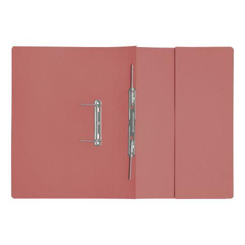 5 Star Elite Transfer Spring Pocket File Heavyweight 315gsm Foolscap Pink [Pack 25]