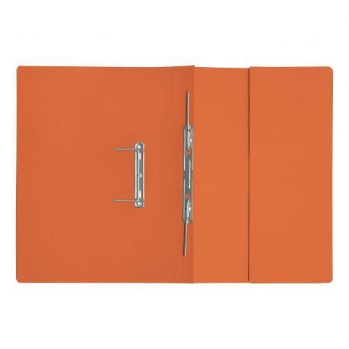5 Star Elite Transfer Spring Pocket File Heavyweight 315gsm Foolscap Orange [Pack 25]