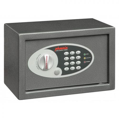 Phoenix Compact Safe Home or Office Electronic Lock 9.5L Capacity 6kg W310xD200xH200mm Ref SS0801E