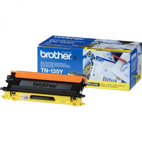 Brother Laser Toner Cartridge High Yield Page Life 4000pp Yellow Ref TN135Y