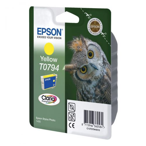 Epson T0794 Inkjet Cartridge Owl High Yield Page Life 975pp 11ml Yellow Ref C13T07944010