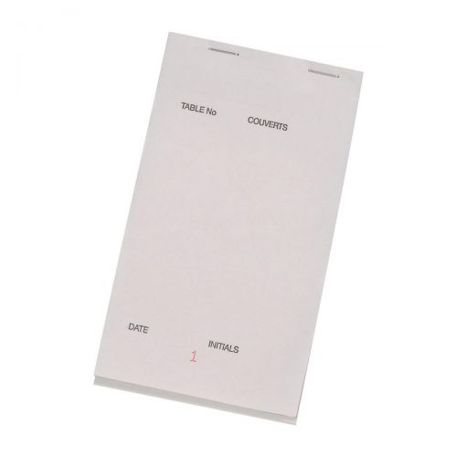 Triplicate Service Pad Numbered 1-50 1 Leaf White 2 Leaves Coloured 95x165mm [Pack 50]
