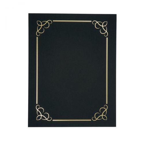 Certificate Covers Linen Finish Heavyweight Card 240g A4 Black [Pack 5]