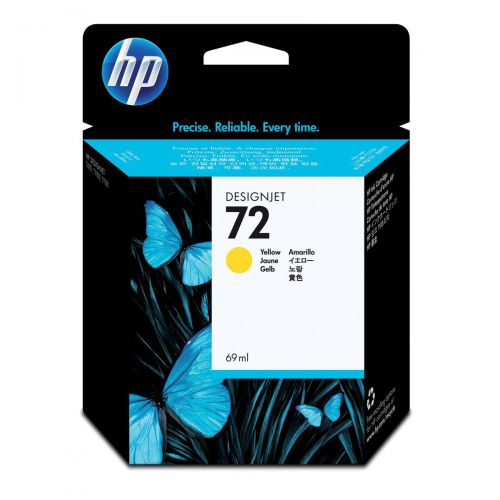 Hewlett Packard [HP] No.72 Inkjet Cartridge 69ml Yellow Ref C9400A