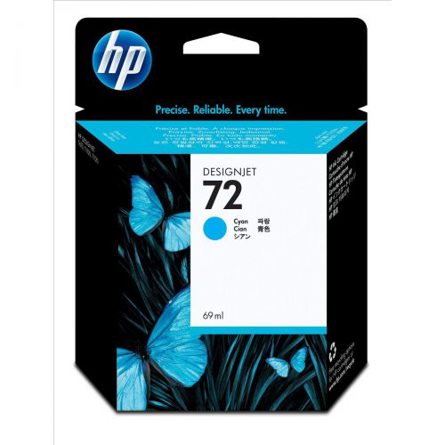 Hewlett Packard [HP] No.72 Inkjet Cartridge 69ml Cyan Ref C9398A