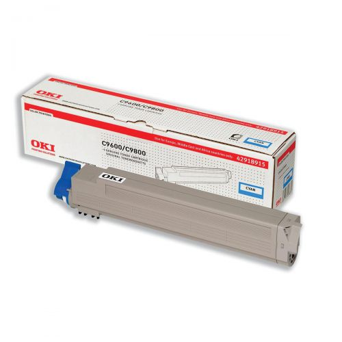 OKI Laser Toner Cartridge Page Life 15000pp Cyan Ref 42918915