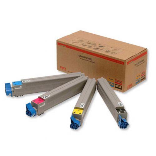 OKI Laser Toner Cartridges Page Life 15000pp Black/Cyan/Magenta/Yellow Ref 43112702 [Pack 4]