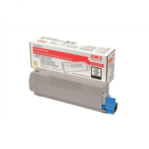 OKI Laser Toner Cartridge Page Life 6000pp Black Ref 43324408