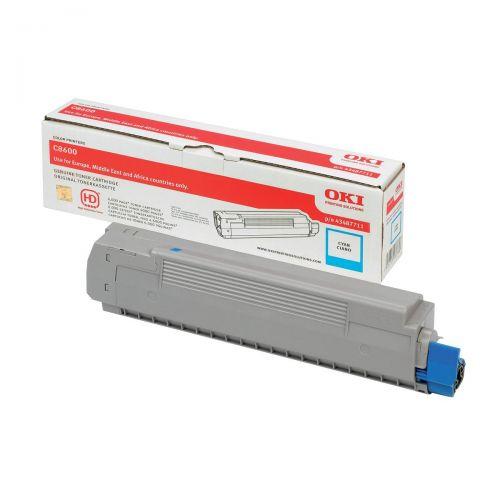 OKI Laser Toner Cartridge Page Life 6000pp Cyan Ref 43487711