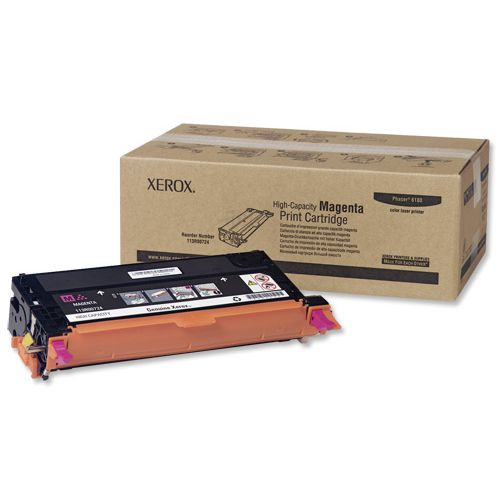 Xerox Laser Toner Cartridge High Yield Page Life 6000pp Magenta Ref 113R00724
