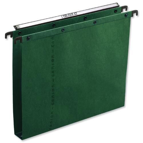 Elba AZO Ultimate Linking Suspension File 30mm Wide-base 240gsm Foolscap Green Ref 100330319 [Pack 25]