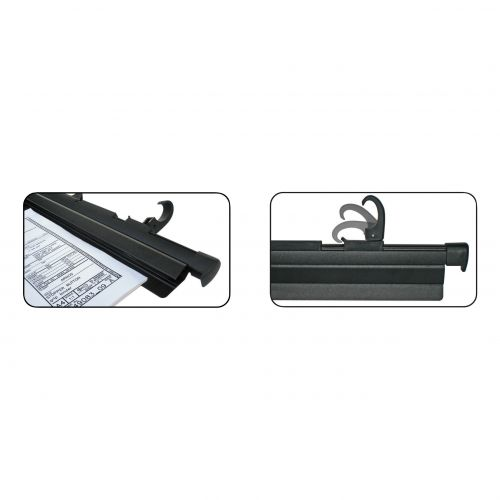 Arnos Hang-A-Plan QuickFile Front Load Binder with Cam Lever Full-length Clamp W650mm A1 Black Ref D200B