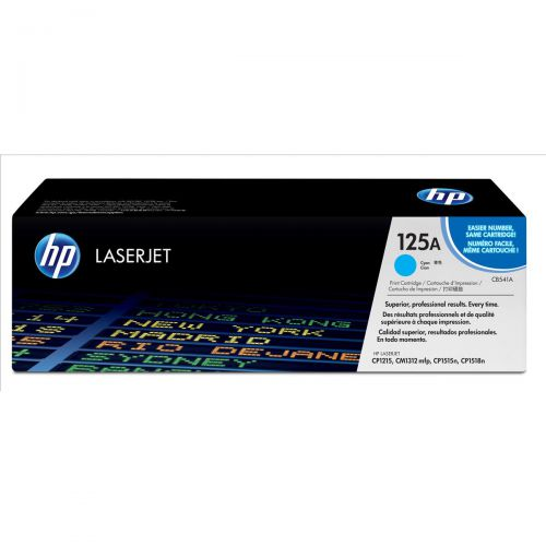 HP 125A Laser Toner Cartridge Page Life 1400pp Cyan Ref CB541A
