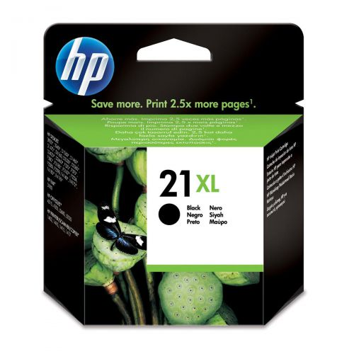 Hewlett Packard [HP] No.21XL Inkjet Cartridge High Yield Page Life 475pp 12ml Black Ref C9351CE