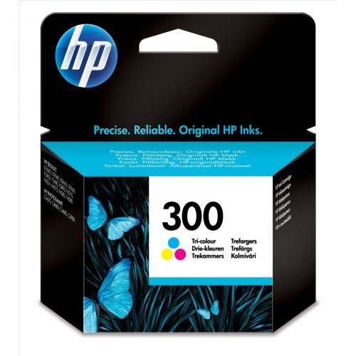 Hewlett Packard [HP] No.300 Inkjet Cartridge Page Life 165pp 4ml Tri-Colour Ref CC643EE