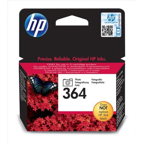 Hewlett Packard [HP] 364 Inkjet Cartridge Page Life 130 Photos 3ml Photo Black Ref CB317EE