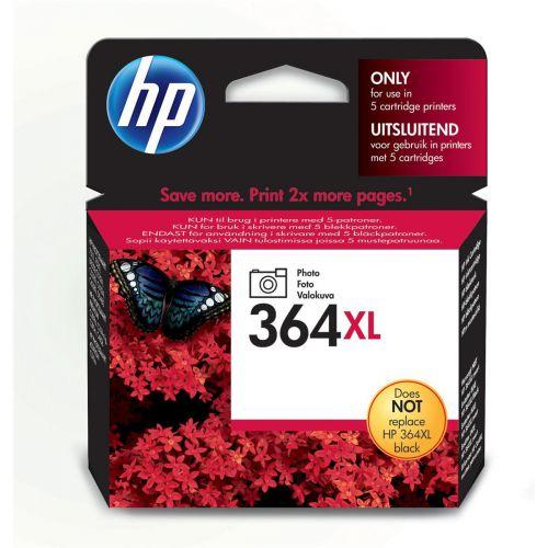 Hewlett Packard [HP] 364XL Inkjet Cartridge High Yield Page Life 290 photos 6ml Photo Black Ref CB322EE
