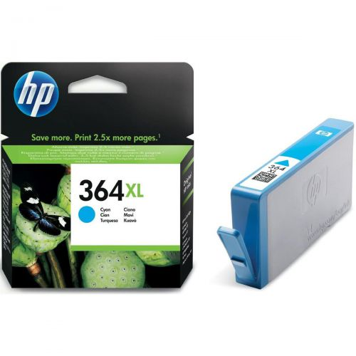 Hewlett Packard [HP] No.364XL Inkjet Cartridge High Yield Page Life 750pp 6ml Cyan Ref CB323EE