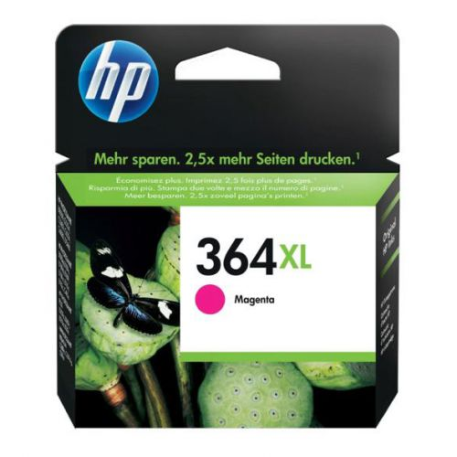 Hewlett Packard [HP] No.364XL Inkjet Cartridge High Yield Page Life 750pp 6ml Magenta Ref CB324EE
