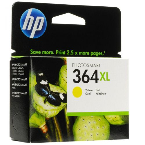 Hewlett Packard [HP] No.364XL Inkjet Cartridge High Yield Page Life 750pp 6ml Yellow Ref CB325EE