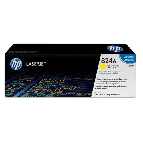 HP 824A Laser Toner Cartridge Page Life 21000pp Yellow Ref CB382A